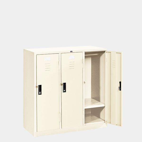 ตู้ล็อคเกอร์เตี้ย-3-ประตู-รุ่น-LK-T3-สีขาวมุก