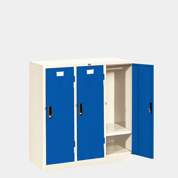 ตู้ล็อคเกอร์เตี้ย-3-ประตู-รุ่น-LK-T3-สีน้ำเงิน