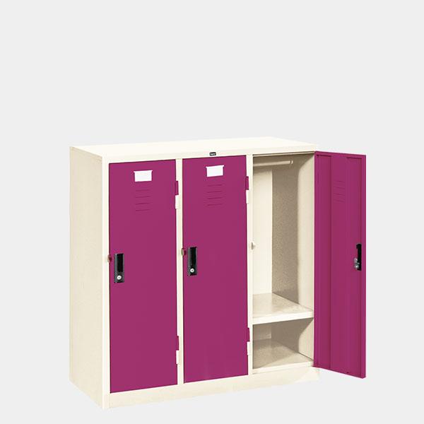 ตู้ล็อคเกอร์เตี้ย-3-ประตู-รุ่น-LK-T3-สีม่วง