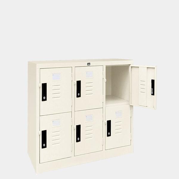 ตู้ล็อคเกอร์เตี้ย-6-ประตุ-รุ่น-LK-T6-สีขาวมุก