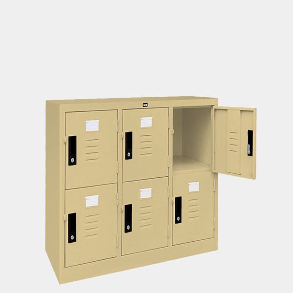 ตู้ล็อคเกอร์เตี้ย-6-ประตุ-รุ่น-LK-T6-สีครีม