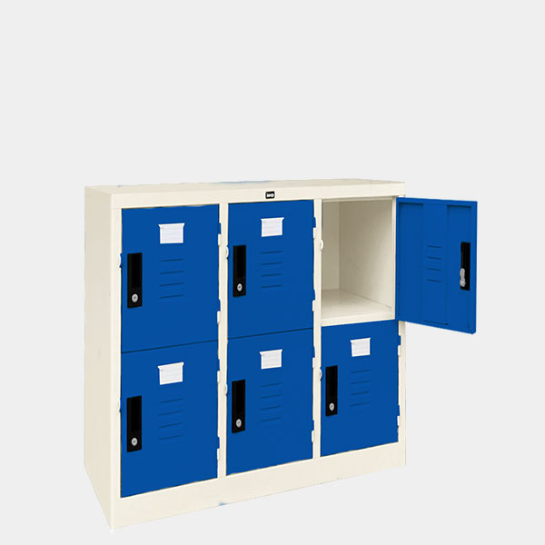 ตู้ล็อคเกอร์เตี้ย-6-ประตุ-รุ่น-LK-T6-สีน้ำเงิน