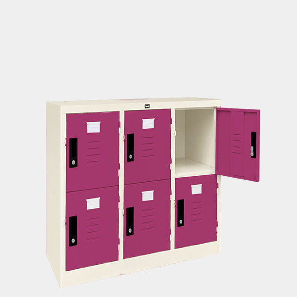 ตู้ล็อคเกอร์เตี้ย-6-ประตุ-รุ่น-LK-T6-สีม่วง