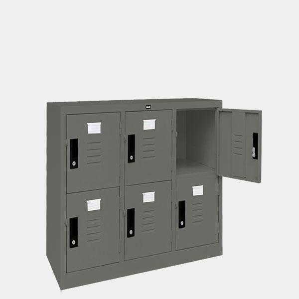 ตู้ล็อคเกอร์เตี้ย-6-ประตุ-รุ่น-LK-T6-สีเทาราชการ