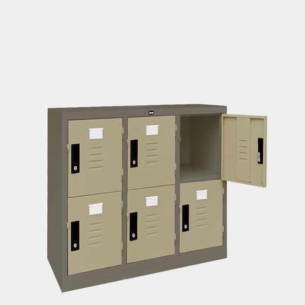 ตู้ล็อคเกอร์เตี้ย-6-ประตุ-รุ่น-LK-T6-สีเทาสลับ