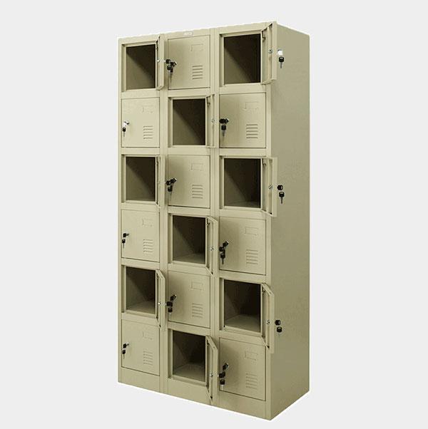 ตู้ล็อคเกอร์-18-ประตู-รุ่น-ZLK-6118-สีครีม
