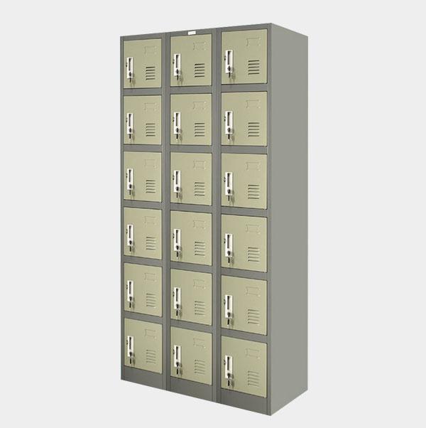 ตู้ล็อคเกอร์-18-ประตู-รุ่น-ZLK-6118-สีเทาสลับ