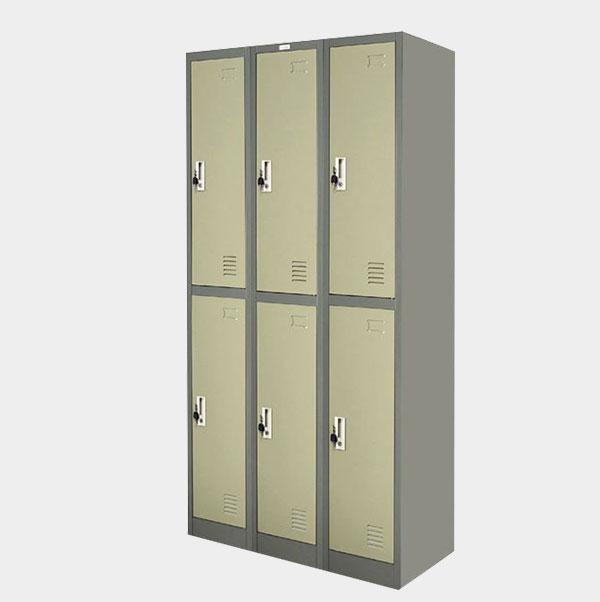ตู้ล็อคเกอร์-6-ประตู-รุ่น-ZLK-6106-สีเทาสลับ