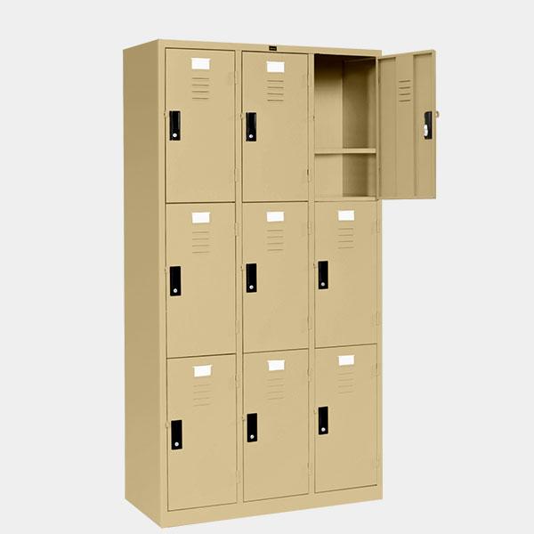 ตู้ล็อคเกอร์-9-ประตู-รุ่น-LK-9-สีครีม