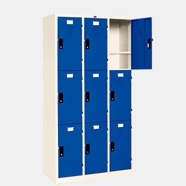 ตู้ล็อคเกอร์-9-ประตู-รุ่น-LK-9-สีน้ำเงิน