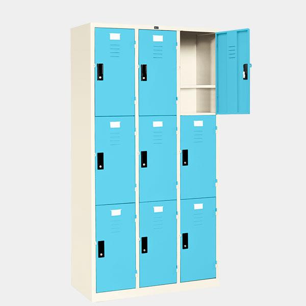 ตู้ล็อคเกอร์-9-ประตู-รุ่น-LK-9-สีฟ้า