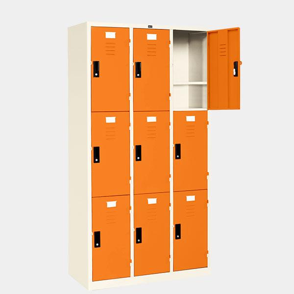 ตู้ล็อคเกอร์-9-ประตู-รุ่น-LK-9-สีส้ม