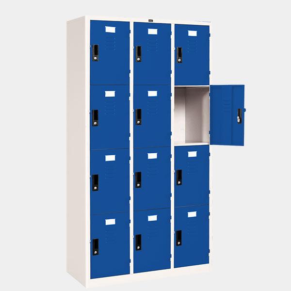 ตู้ล็อคเกอร์ 12 ประตู รุ่น LK-12 สีน้ำเงิน