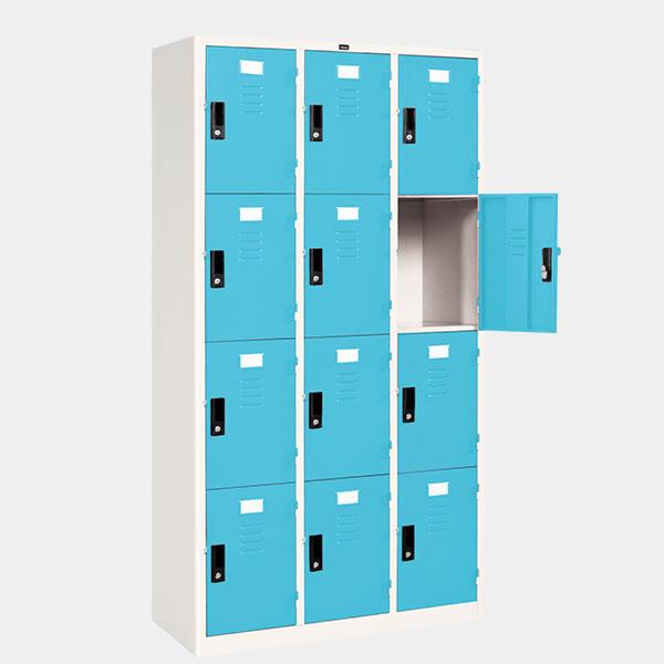 ตู้ล็อคเกอร์ 12 ประตู รุ่น LK-12 สีฟ้า