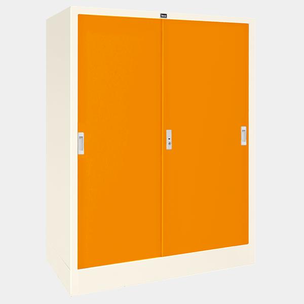 ตู้เบานเลื่อนทึบ รุ่น LK-C4 สีส้ม