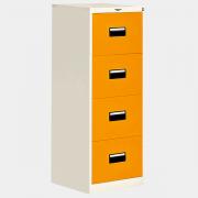ตู้เหล็ก 4 ลิ้นชัก รุ่น DR-4 สีส้ม