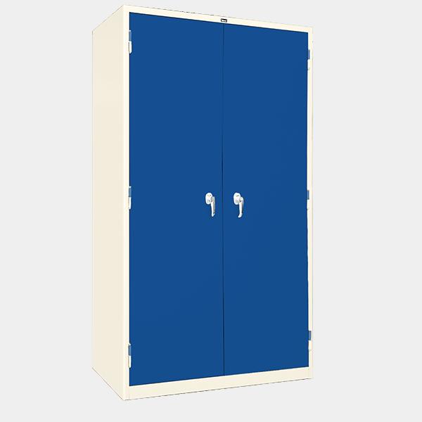 ตู้ 2 บานเปิด มือจับบิด รุ่น LK-2 สีน้ำเงิน