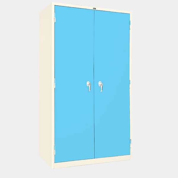 ตู้ 2 บานเปิด มือจับบิด รุ่น LK-2 สีฟ้า