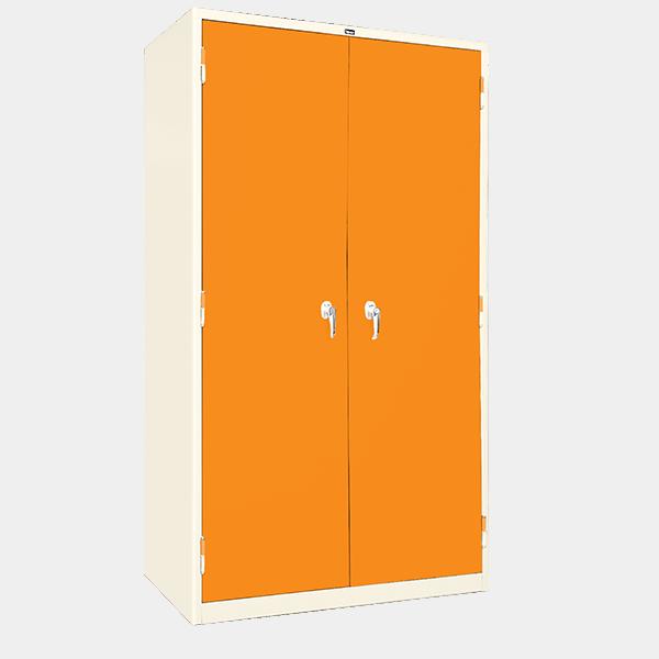 ตู้ 2 บานเปิด มือจับบิด รุ่น LK-2 สีส้ม