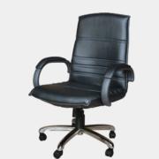 เก้าอี้สำนักงาน รุ่น 160#130 หนังสีดำ