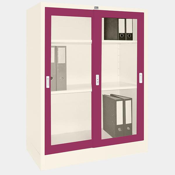 ตู้บานเลื่อนกระจก รุ่น LK-C3 สีม่วง