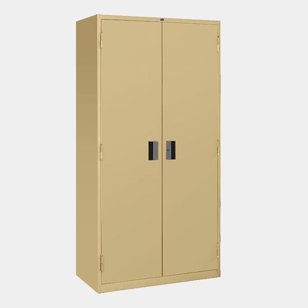 ตู้เหล็ก 2 บานเปิด มือจับแบบฝัง รุ่น LK-F2 สีครีม