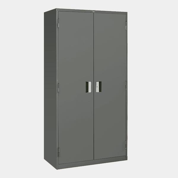 ตู้เหล็ก 2 บานเปิด มือจับแบบฝัง รุ่น LK-F2 สีเทาราชการ