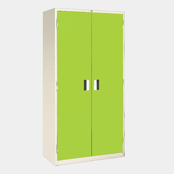 ตู้เหล็ก 2 บานเปิด มือจับแบบฝัง รุ่น LK-F2 สีเขียว