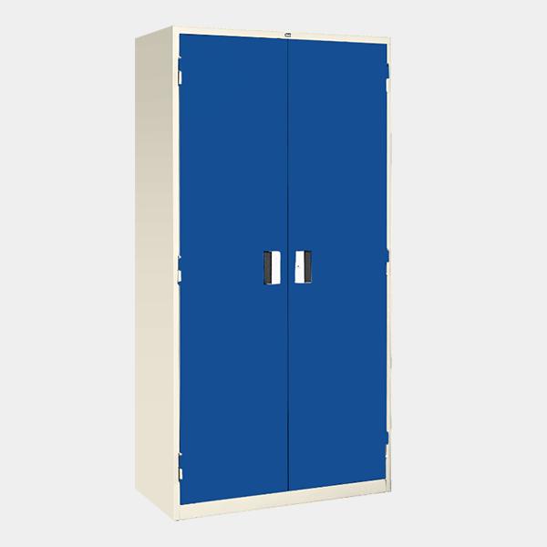 ตู้เหล็ก 2 บานเปิด มือจับแบบฝัง รุ่น LK-F2 สีน้ำเงิน