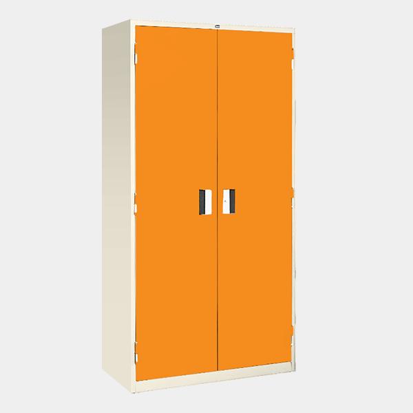 ตู้เหล็ก 2 บานเปิด มือจับแบบฝัง รุ่น LK-F2 สีส้ม