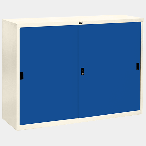 ตู้บานเลื่อนทึบ 4 ฟุต รุ่น SL-4 สีน้ำเงิน