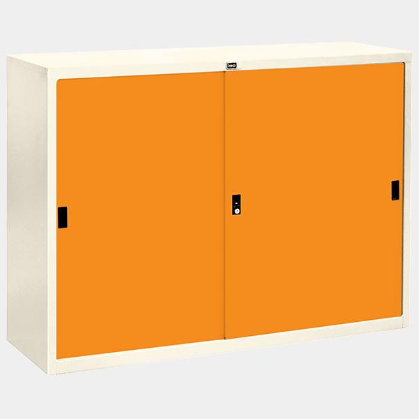 ตู้บานเลื่อนทึบ 4 ฟุต รุ่น SL-4 สีส้ม