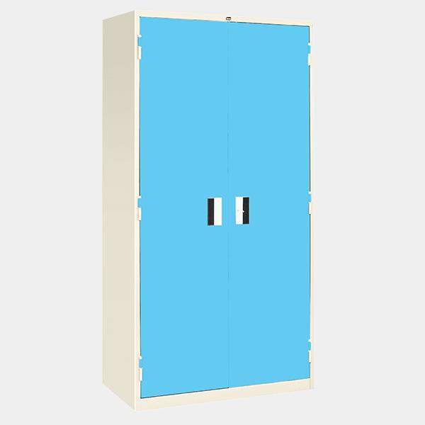 ตู้เหล็ก 2 บานเปิด มือจับแบบฝัง รุ่น LK-F2 สีฟ้า