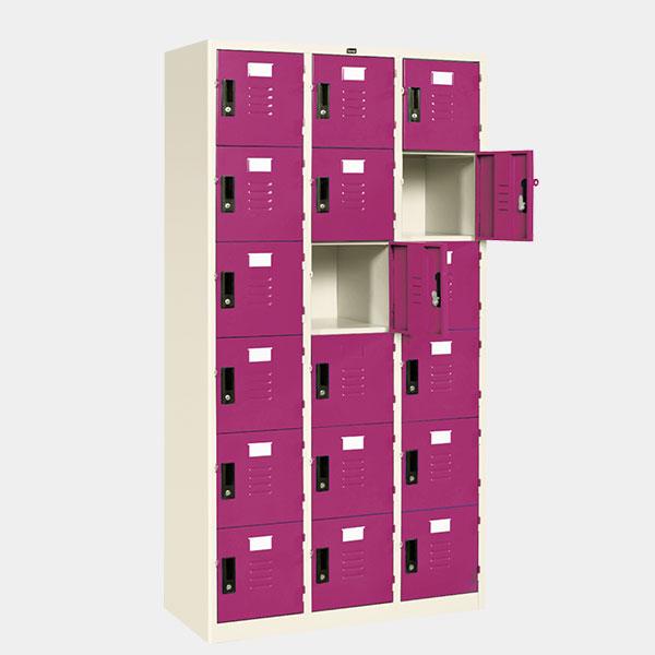ตู้ล็อคเกอร์ 18 ประตู รุ่น LK-18 สีม่วง