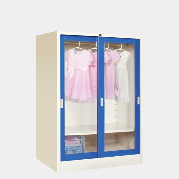 ตู้เสื้อผ้าเด็กบานเลื่อนกระจกใส รุ่น WS-C1