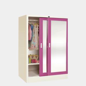 ตู้เสื้อผ้าเด็กบานเลื่อนกระจกเงา-รุ่น-ws-c2