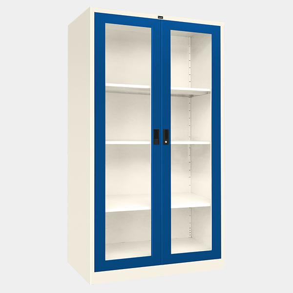 ตู้บานเปิดกระจก รุ่น LKO-2 สีน้ำเงิน