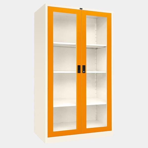 ตู้บานเปิดกระจก รุ่น LKO-2 สีส้ม