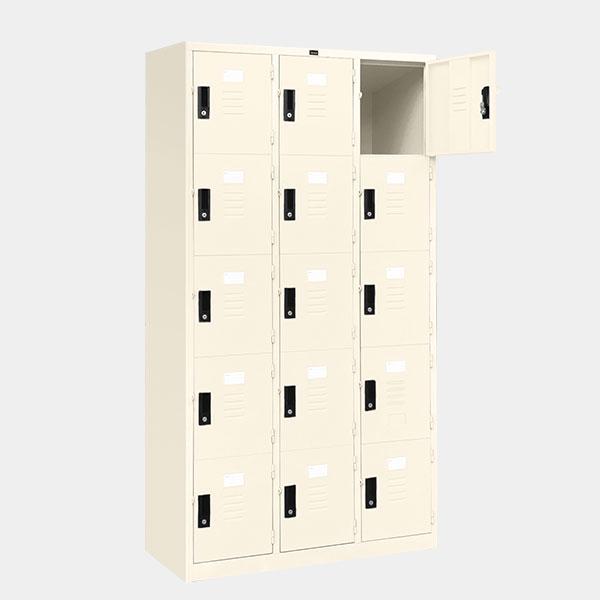 ตู้ล็อคเกอร์-15-ประตู-รุ่น-lK-15-สีขาวมุก