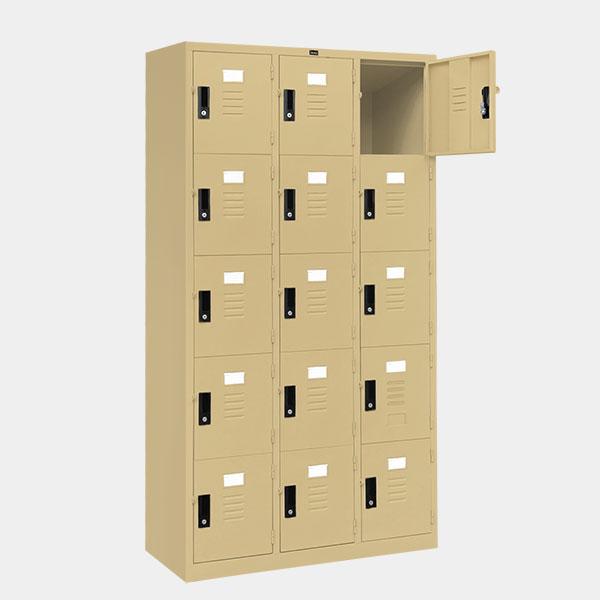 ตู้ล็อคเกอร์-15-ประตู-รุ่น-lK-15-สีครีม