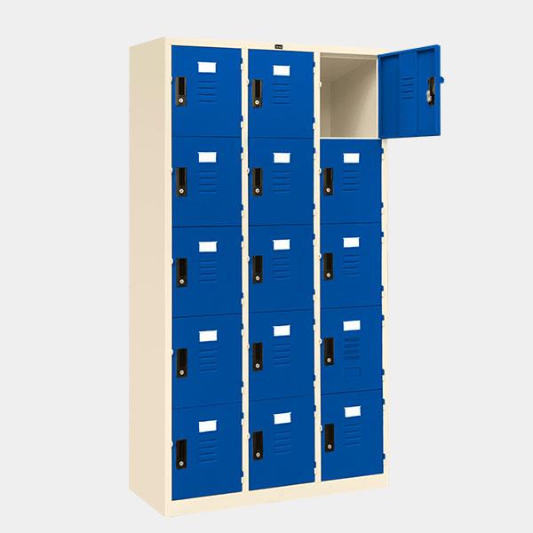 ตู้ล็อคเกอร์-15-ประตู-รุ่น-lK-15-สีน้ำเงิน