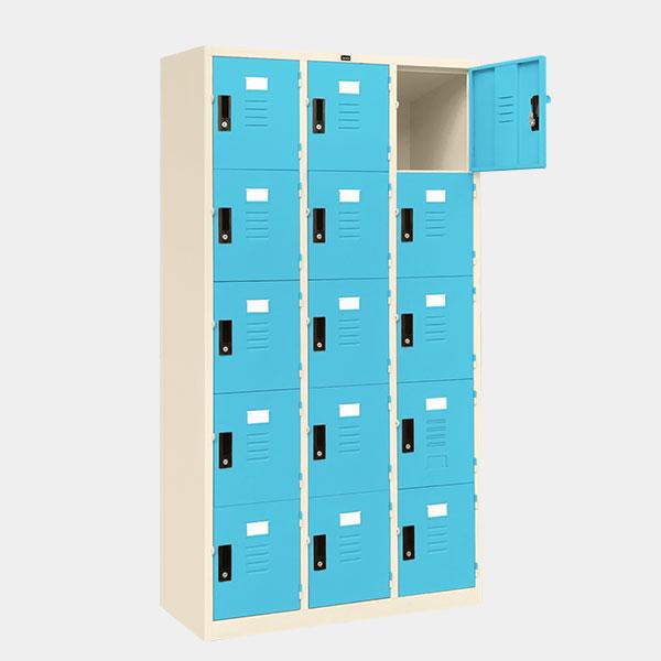 ตู้ล็อคเกอร์-15-ประตู-รุ่น-lK-15-สีฟ้า