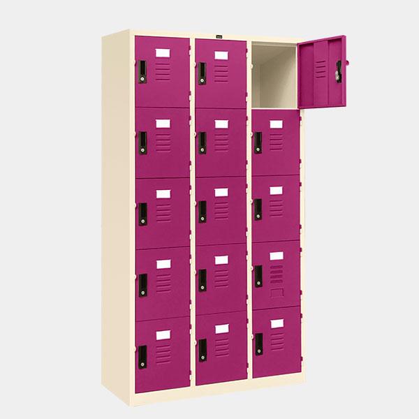 ตู้ล็อคเกอร์-15-ประตู-รุ่น-lK-15-สีม่วง