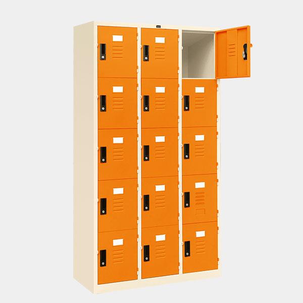ตู้ล็อคเกอร์-15-ประตู-รุ่น-lK-15-สีส้ม