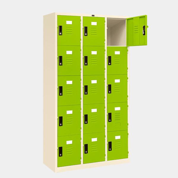 ตู้ล็อคเกอร์-15-ประตู-รุ่น-lK-15-สีเขียว