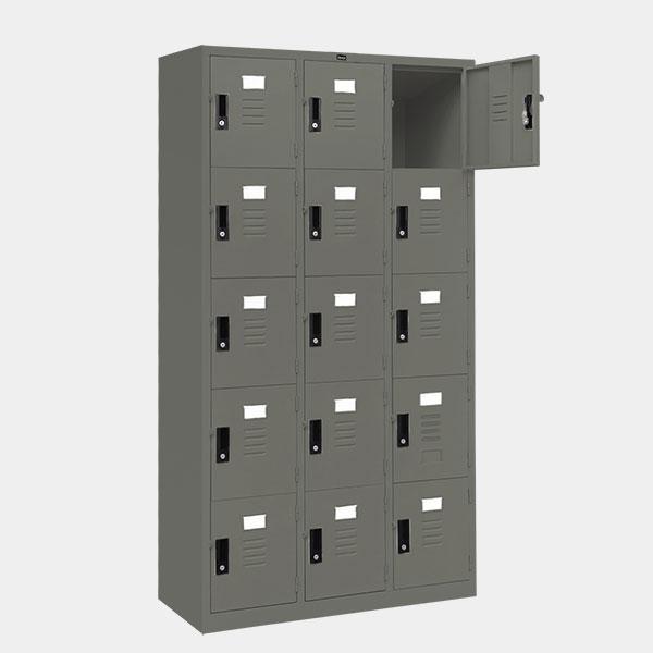 ตู้ล็อคเกอร์-15-ประตู-รุ่น-lK-15-สีเทาราชการ