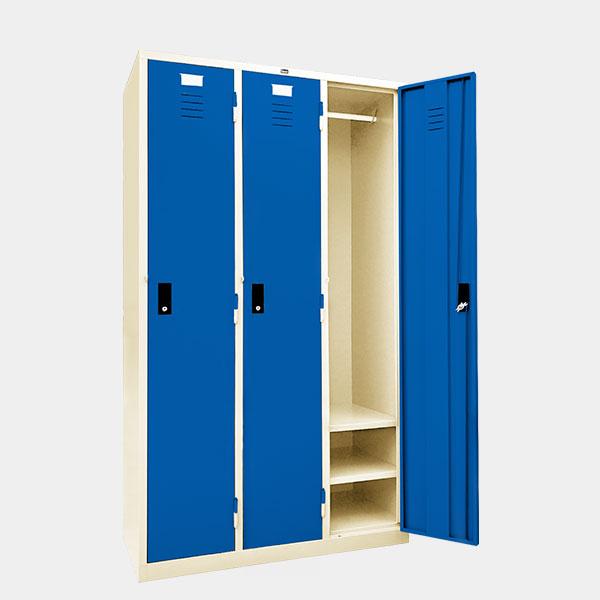 ตู้ล็อคเกอร์-3-ประตู-รุ่น-LK-H3-สีน้ำเงิน