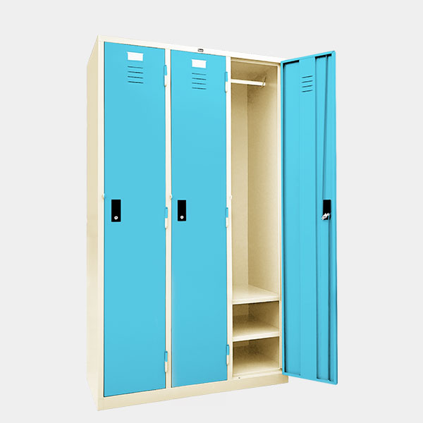 ตู้ล็อคเกอร์-3-ประตู-รุ่น-LK-H3-สีฟ้า