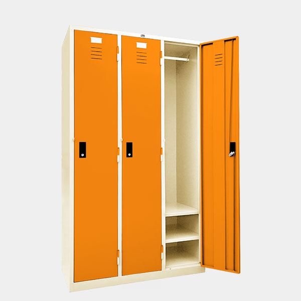 ตู้ล็อคเกอร์-3-ประตู-รุ่น-LK-H3-สีส้ม