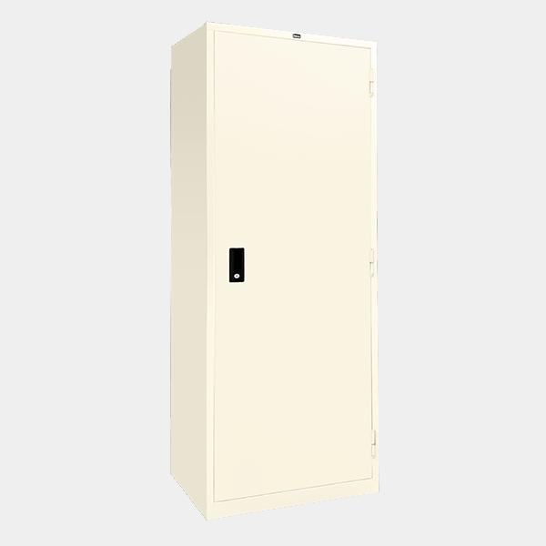 ตู้เสื้อผ้าเหล็ก บานเปิดทึบ รุ่น WO-D604 สีขาวมุก